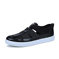 Men's Sandals Comfort Light Soles Fabric Spring Summer Casual Outdoor Flat Heel Ruby Black White Walking Shoes