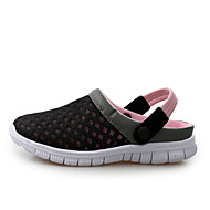 Unisex Sandals Comfort Light Soles Couple Shoes Tulle Summer Fall Casual Black Dark Blue Dark Grey Blushing Pink 1in-1 3/4in