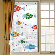Window Film Window Decals Style Fish Dull Polish PVC Window Film - (60 x 116)cm