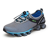 Men's Athletic Shoes Comfort Fabric Summer Fall Outdoor Athletic Running Low Heel Royal Blue Gray Dark Blue 1in-1 3/4in