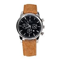 Men's Sport Watch Fashion Watch Quartz Pedometer Genuine Leather Band Charm Khaki