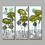 Ručně malované Abstraktní Vertikální,Moderní Tři panely Hang-malované olejomalba For Home dekorace