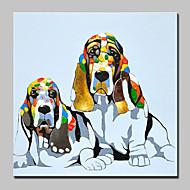 Peint à la main AnimalAbstrait Moderne/Contemporain Un Panneau Toile Peinture à l'huile Hang-peint For Décoration d'intérieur