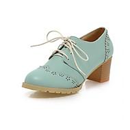 Naiset Oxford-kengät Comfort Uutuus Synteettinen Tekonahka PU Kevät Kesä Syksy Talvi Häät Kausaliteetti Puku Juhlat Kävely Comfort Uutuus