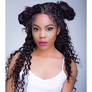 Bezszwowa pełna koronka ludzkie włosy peruki głęboka fala brazilian 100% nieprzereagowana ludzka peruki do włosów dla czarnych kobiet z