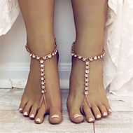 Women's Anklet/Bracelet Rhinestone Alloy Fashion Drop Jewelry For Daily Casual 1 pcs