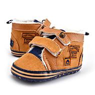 キッズ 赤ちゃん スニーカー 赤ちゃん用靴 ツイル 秋 冬 カジュアル ドレスシューズ パーティー 赤ちゃん用靴 ビーズ ボタン かぎホック フラットヒール Brown カーキ色 フラット