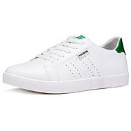 Heren Sneakers Comfortabel PU Lente Herfst Wit Zwart Groen Plat
