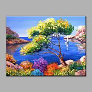 Pintados à mão Paisagem Horizontal,Mediterrêneo 1 Painel Tela Pintura a Óleo For Decoração para casa