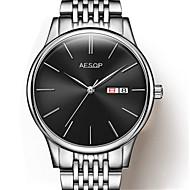 Heren mechanische horloges Automatisch opwindmechanisme Legering Band Zilver