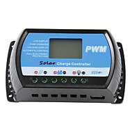 30a 12v / 24v solpanel oplader controller batteri regulator usb lcd PWM