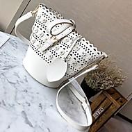 Damen Bag Sets PU Ganzjährig Normal Barrel Bag Klammer-Verschluss Weiß Schwarz