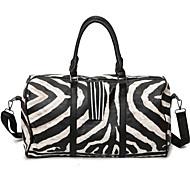 Žene putna torba pu platna oxford tkanina svih sezona casual otvoreni pravokutni zatvarač crno / bijelo