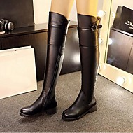 Women's Boots Comfort Fashion Boots PU Fall Winter Casual Comfort Fashion Boots Black 2in-2 3/4in