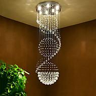 Luminaires de plafonniers en plafonnier en cristal suspendus à l'intérieur de la maison Lampes d'éclairage suspendues pour les escaliers