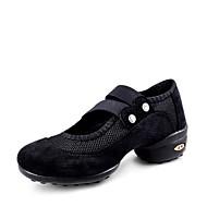 Kadın Dans Sneakerları Suni Süet Tül Spor Ayakkabı Dış Mekan Ayrık Renkler Düz Taban Siyah Kırmzı 2,5 - 3,6 cm Kişiselleştirilmiş