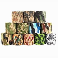 1pcs 4500 * 50 * 0.21mm esticado selva camo stealth wrap caça camuflagem fita adesiva ducto natural latex tape random color