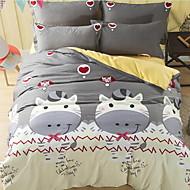 Kartoon 4 Stück 1 Stk. Bettdeckenbezug 2 Stk. Kissenbezüge 1 Stk. Betttuch