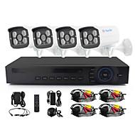 Yanse® 4 ch 960p cctv kamera ahd kits ir farve vandtæt sikkerhedskameraer system hjemme 1.3mp ahd-m