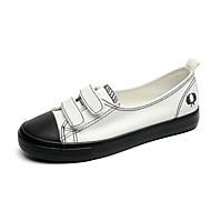 נשים נעלי ספורט נוחות בלרינה סוליות מוארות קנבס קיץ סתיו קזו'אל שמלה הליכה נוחות בלרינה סוליות מוארות שרוכים סקוטש עקב שטוח לבן שחור שטוח