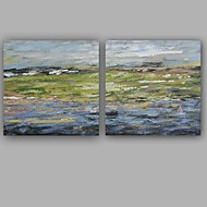 100%  Hand-Painted Abstract / Modern / Classic Two Panel Canvas Oil Painting For Home Decoration