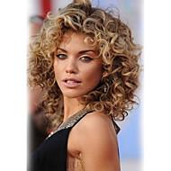 Femme Perruques capless à cheveux humains Châtain / Blond Platine Court Ondulés Coupe Dégradée