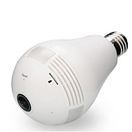 2mp 360 graden ip camera wi-fi lamp lamp fisheye panoramische beveiliging camera bewegingsdetectie