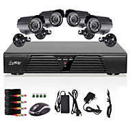 4CH H.264 DVR Night Vision Camera CCTV with Motion Detection 600TVL Waterproof