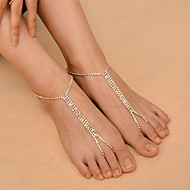 Women's Anklet/Bracelet Copper Rhinestone Fashion Costume Jewelry Alphabet Shape Jewelry For Daily Casual Outdoor clothing Club
