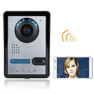 720p sem fio wifi video porta porta do telefone interfone sistema visão noturna câmera impermeável com capa de chuva