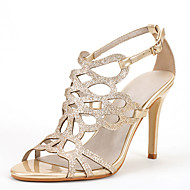 Ženske Sandale Inovativne cipele Sandale s remenom oko palca Lakirana koža Šljokice Proljeće Ljeto Formalne prilike Zabava i večer