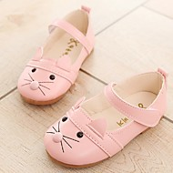 Girls' Sandals Light Soles Leatherette TPU Summer Fall Casual Dress Light Soles Animal Print Hook & Loop Low HeelBlushing Pink Black