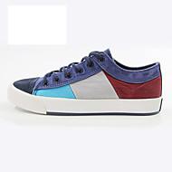 Heren Sneakers Lichtzolen Comfortabel Canvas Lente Herfst Causaal Feesten & Uitgaan Veters Platte hak Bruin Marineblauw Lichtblauw Plat