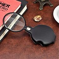 1 stk bærbar 60mm forstørrelses mini forstørrelsesglas loupe leser verktøy for natt lesing ramdon farge