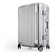 Unisex Gepäck Polyester PC Ganzjährig Normal Reißverschluss Schwarz Silber