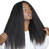 黒い女性のための変態ストレートレースのフロント人間の毛のかつらブラジルのレミーの髪赤ちゃんの髪の粗いヤーキ