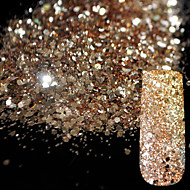 10g Pure Champagne Glitter Nail Art Tool DIY Glitter Mix Size Acrylic Powder Pentagon Sequins Sheet Nail Supplies Decoration