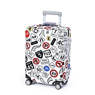 ユニセックス 旅行かばん 特殊材料 オールシーズン カジュアル ファスナー ブルー ホワイト