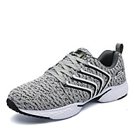 Running Shoes Men's Athletic Shoes Comfort Knit Spring Fall Athletic Casual Outdoor  Flat Heel Blue Gray Black Flat