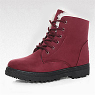 Women's Boots Snow Boots Winter Suede Walking Shoes Outdoor Flat Heel Black Ruby Khaki Royal Blue Flat