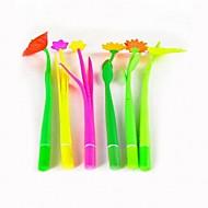 Gel Pen Kynä Yksittäinen Kynä,100% standard food soft silicon tynnyri Musta Ink Colors For Koulutarvikkeet Toimistotarvikkeet Pakkaus 1