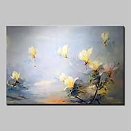 Pintados à mão Floral/Botânico Horizontal,Abstracto Modern 1 Painel Tela Pintura a Óleo For Decoração para casa