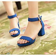 Dámské Sandály Pohodlné Gladiátorské Léto Kůže nubuck Ležérní Černá Červená Zelená Modrá 5 - 7 cm