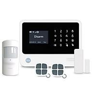 Älykäs koti wifi / GSM-turvajärjestelmä tukee 8 langallista ja 100 langatonta suojausvyöhykettä, jotka toimivat 100 älypuhelimella