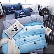 Romantic Comforter Material 1pc Duvet Cover 2pcs Shams 1pc Flat Sheet