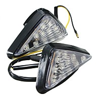 Ziqiao 1 paar motorfiets clear flush mount beurt signaal licht led lamp amber indicator blinker flitsers verlichting
