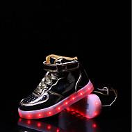 Fille Baskets Confort Semelles Légères Chaussures Lumineuses PU de microfibre synthétique Automne Hiver Décontracté Lacet Scotch Magique