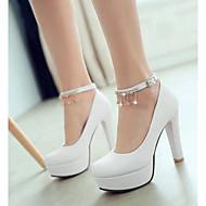 Damen Schuhe PU Sommer Komfort High Heels Mit Für Normal Weiß Blau Rosa