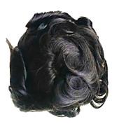 6x9 męska torebka peruka z przodu koronka włosy kawałek lekko falistą indyjski system wymiany włosów