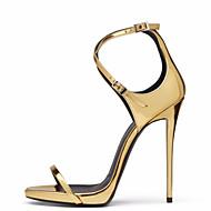 Dámské Sandály Novinky Gladiátorské Personalizované materiály mikrovlákno Léto Svatební Šaty Party Přezky Vysoký Zlatá 10 - 12.5 cm